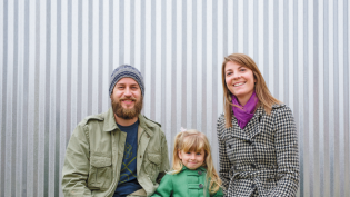 Jesse and Amanda Sensenig, shown with their daughter, Carly, age 3, will open Goshen Brewing Company in 2015